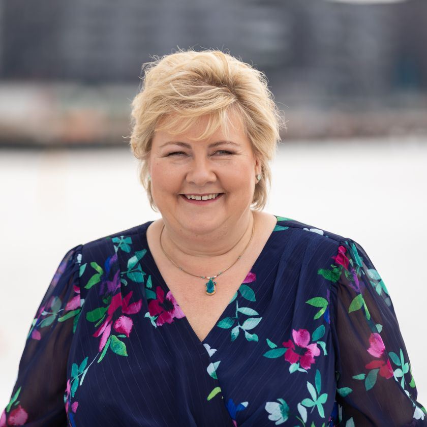 Profilbilde av Erna Solberg